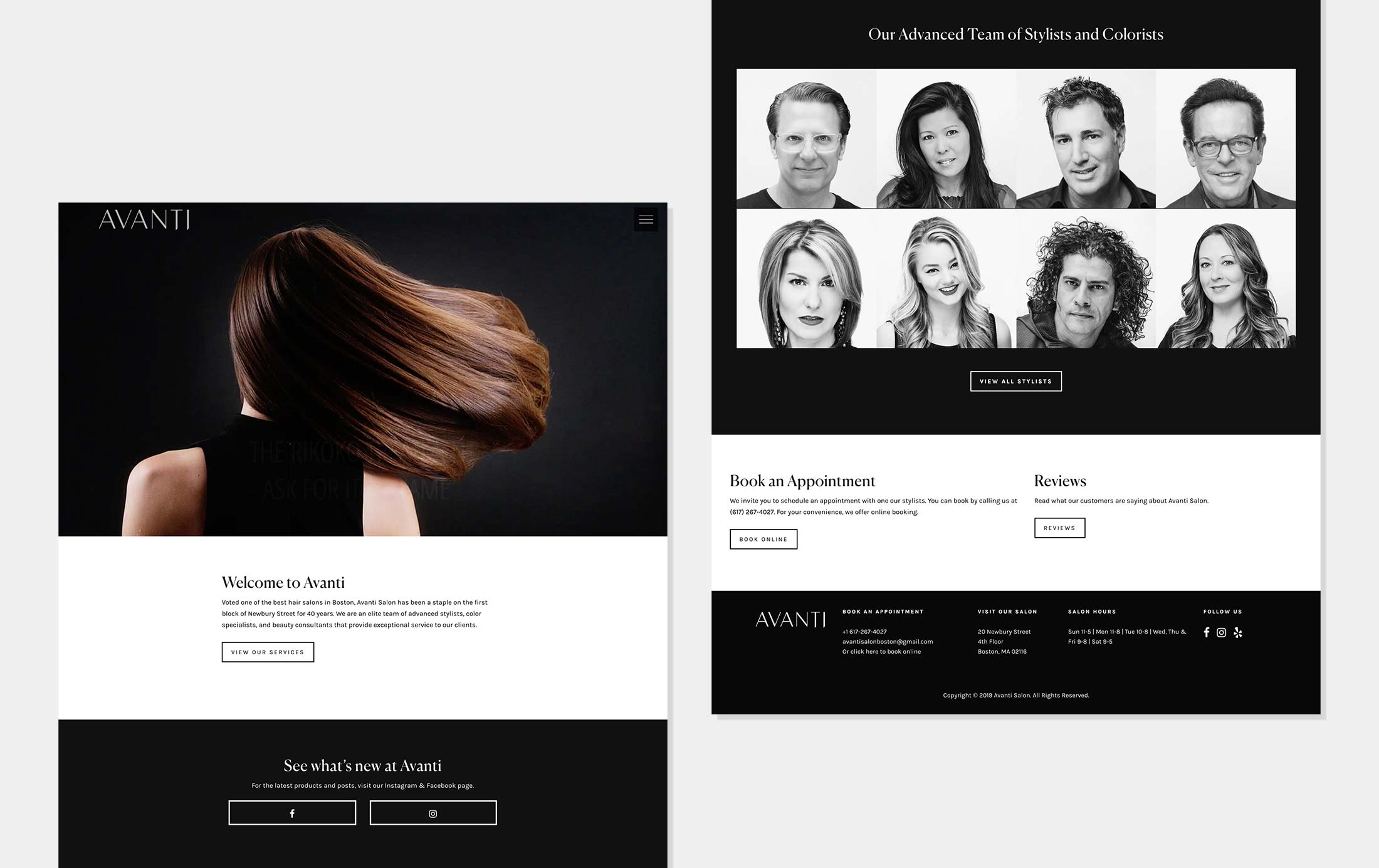 Wordpress Development NYC - Hair Salons