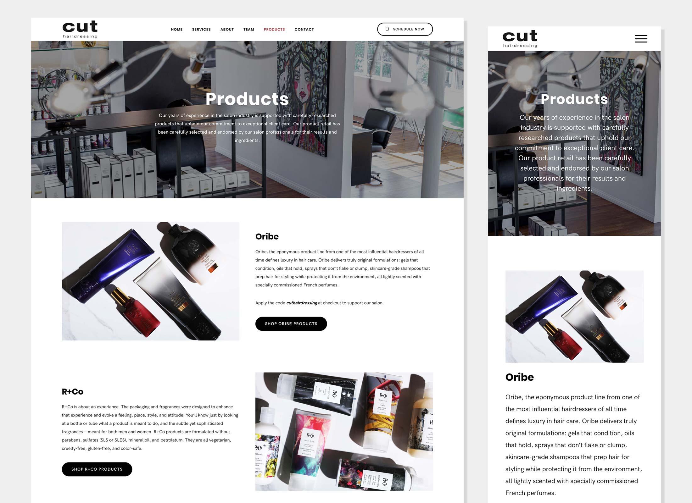 Design, Development - Cut Hairdressing