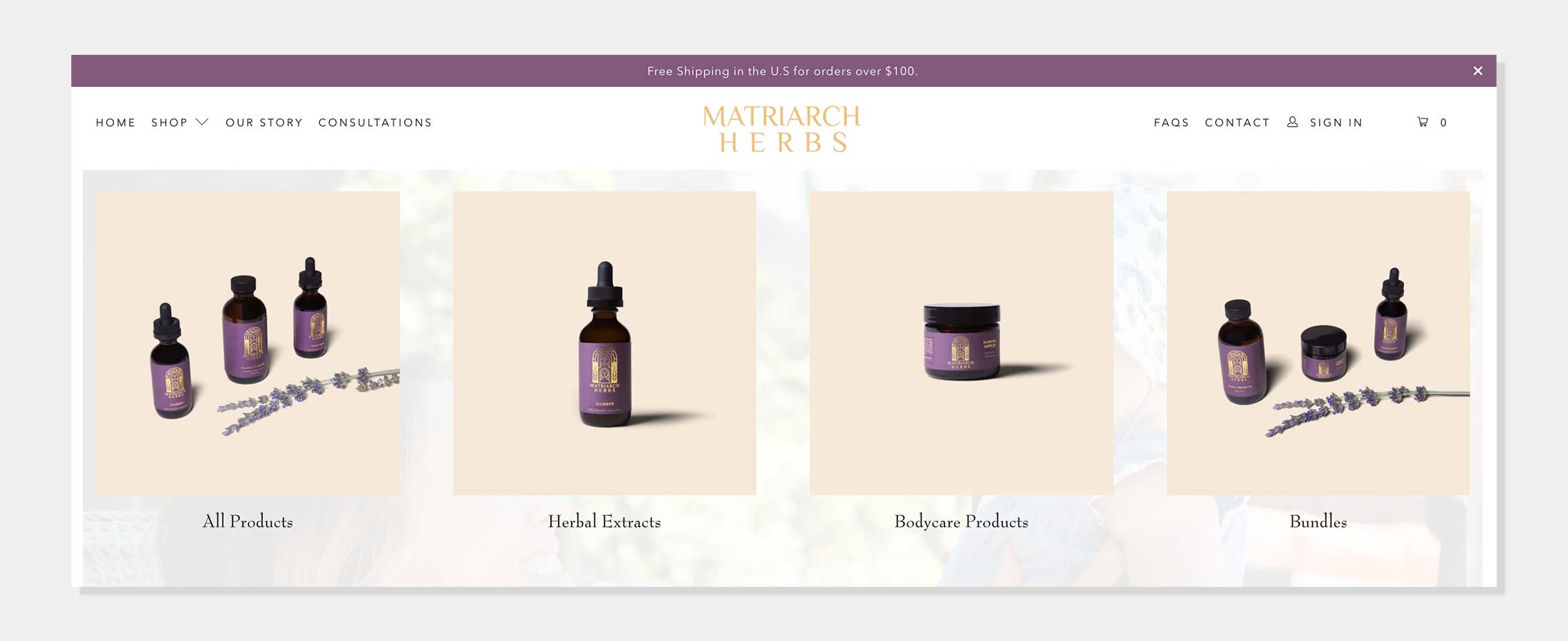 Matriarch Herbs - Herbal Extracts and Bodycare